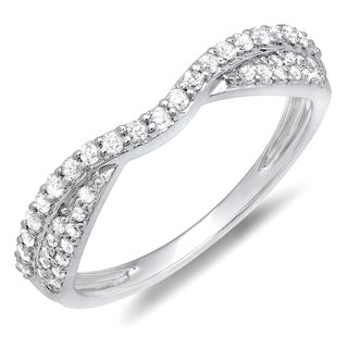 Elora 10k Gold 1/3ct TDW Round Diamond Anniversary Wedding Band (H-I, I1-I2)