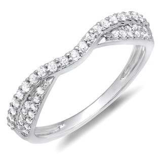 10k Gold 1/3ct TDW Round Diamond Anniversary Wedding Band (H-I, I1-I2)