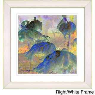 Studio Works Modern 'Abstract Flocking Flamingos' Framed Fine Art Print (More options available)