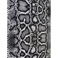 ArtHouse Innovations Black and White Snake Skin Polyester Printed Area Rug - 5' x 8'