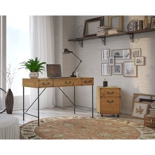 kathy ireland Office Ironworks 48W Writing Desk and 2 Drawer Mobile Pedestal|https://ak1.ostkcdn.com/images/products/11588665/P18528809.jpg?_ostk_perf_=percv&impolicy=medium
