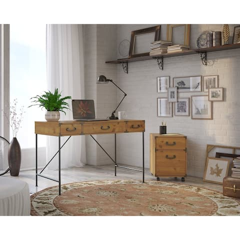 Ironworks Desk with Mobile File from kathy ireland Home by Bush Furniture