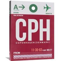 Naxart Studio 'CPH Copenhagen Luggage Tag 2' Stretched Canvas Wall Art