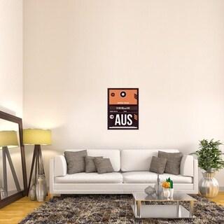 Naxart Studio 'AUS Austin Luggage Tag 2' Stretched Canvas Wall Art