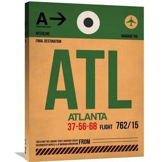 Naxart Studio 'ATL Atlanta Luggage Tag 1' Stretched Canvas Wall Art