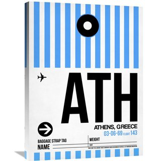Naxart Studio 'ATH Athens Luggage Tag 1' Stretched Canvas Wall Art