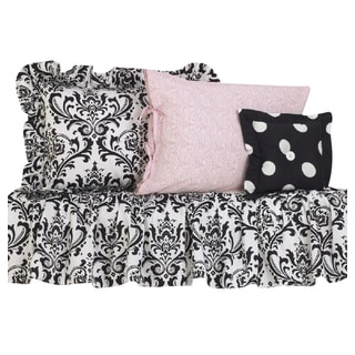 Girly Black and Pink Cotton Bedding Set