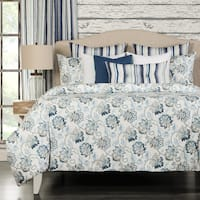 Nantucket 6-piece Cotton Blue Floral Duvet set