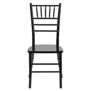 Offex Hercules Series Reinforced Black Wood Chiavari Chair