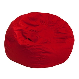 Offex Small Solid Red Kids Upholstery Bean Bag Chair