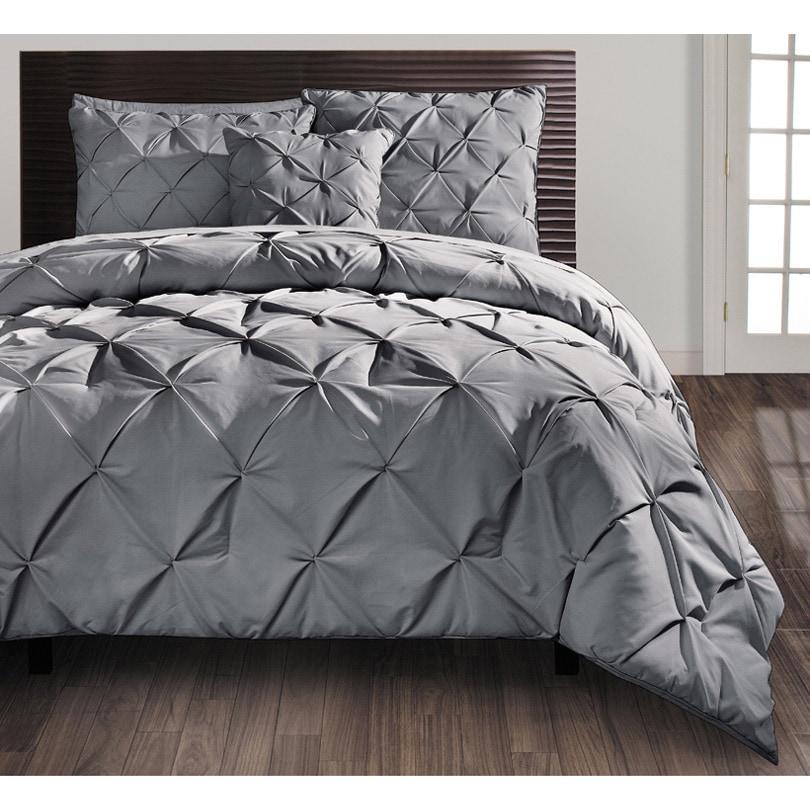 Vcny Carmen 4-piece Queen Size Comforter Set in Navy (Blu...