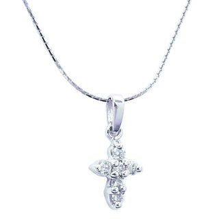 Link to Diamond Cross Necklace 1/5ct TDW Similar Items in Necklaces