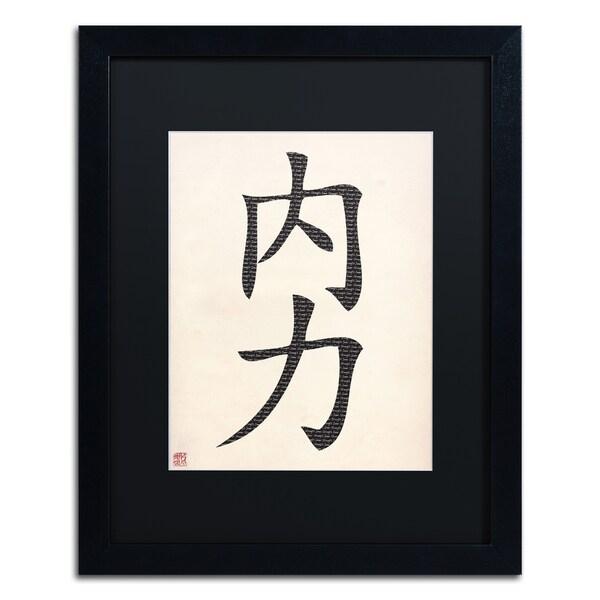 'Inner Strength-Vertical White' Matted Framed Art