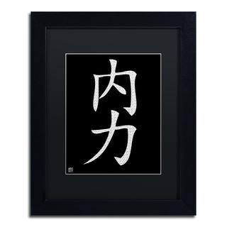 'Inner Strength-Vertical Black' Matted Framed Art
