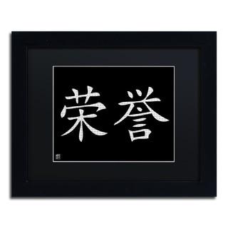 'Honor-Horizontal Black' Matted Framed Art