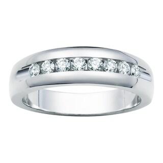 Boston Bay Diamonds 14k Gold Men's 1/2ct TDW Diamond Channel Wedding Band (H-I, I1-I2)