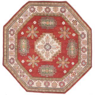 Ecarpetgallery Hand-knotted Finest Gazni Brown Wool Rug (6'9 x 6'9)