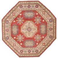 Ecarpetgallery Hand-knotted Finest Gazni Brown Wool Rug (6'2 x 6'2)