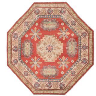 Ecarpetgallery Hand-knotted Finest Gazni Brown Wool Rug (6'1 x 6'1)