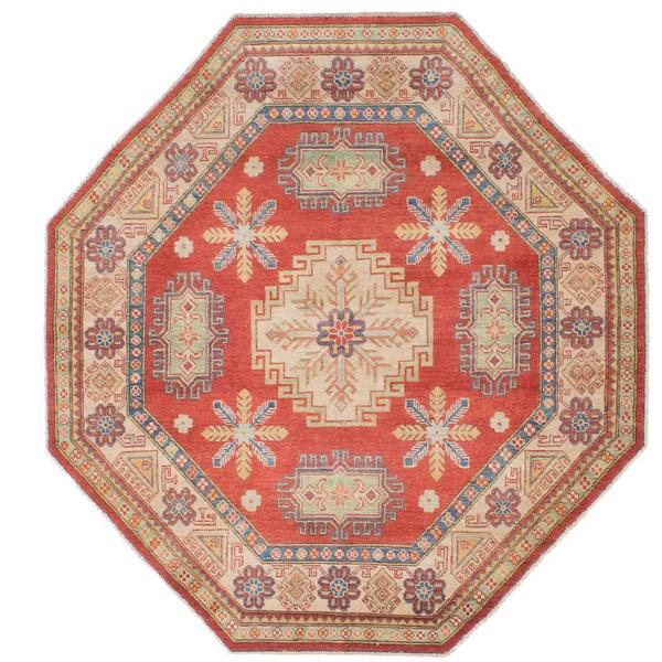 Ecarpetgallery Hand-knotted Finest Gazni Brown Wool Rug - 6'1 x 6'1