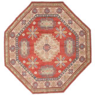 Ecarpetgallery Hand-knotted Finest Gazni Brown Wool Rug (6'3 x 6'3)