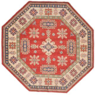 Ecarpetgallery Hand-knotted Finest Gazni Red Wool Rug (7'9 x 7'9)