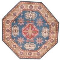 Ecarpetgallery Hand-knotted Finest Gazni Blue Wool Rug (6'5 x 6'5)