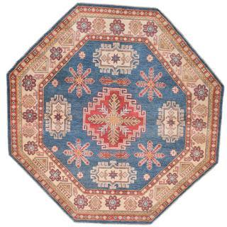 Ecarpetgallery Hand-knotted Finest Gazni Blue Wool Rug (6'5 x 6'5) - 6'5 x 6'5