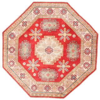 Ecarpetgallery Hand-knotted Finest Gazni Red Wool Rug (6'4 x 6'4)