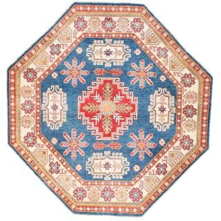 Ecarpetgallery Hand-knotted Finest Gazni Blue Wool Rug (6'7 x 6'7) - 6'7 x 6'7