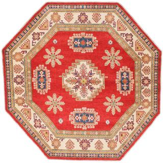 Ecarpetgallery Hand-knotted Finest Gazni Red Wool Rug (7'8 x 7'8)