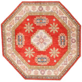 Ecarpetgallery Hand-knotted Finest Gazni Brown Wool Rug (7'6 x 7'6)