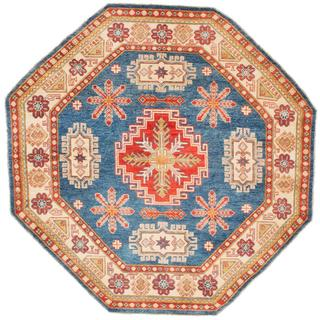 Ecarpetgallery Hand-knotted Finest Gazni Blue Wool Rug (6'10 x 6'10)
