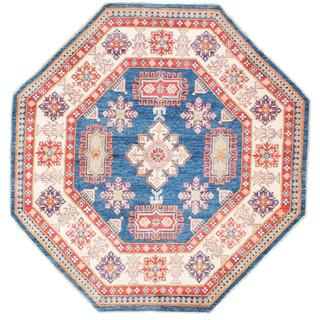 Ecarpetgallery Hand-knotted Finest Gazni Blue Wool Rug (7'3 x 7'3)