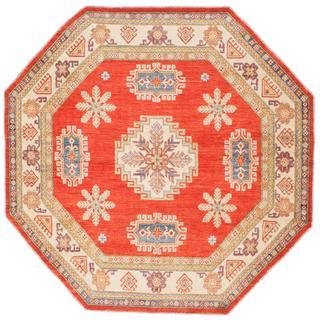 Ecarpetgallery Hand-knotted Finest Gazni Brown Wool Rug (7'11 x 7'11)