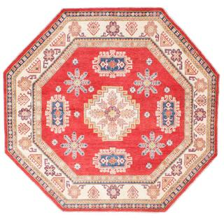 Ecarpetgallery Hand-knotted Finest Gazni Red Wool Rug (7'6 x 7'6)