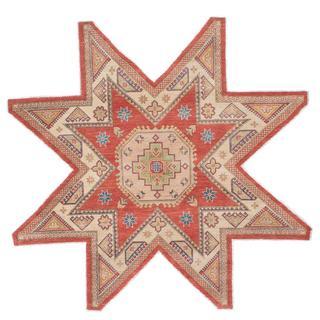 Ecarpetgallery Hand-knotted Finest Gazni Brown Wool Rug (7'10 x 7'10)