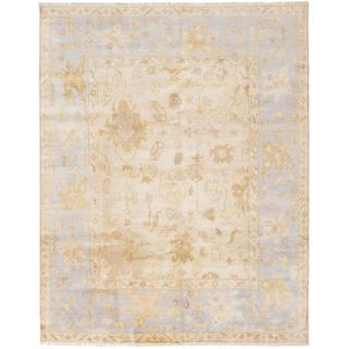 Ecarpetgallery Hand-knotted Royal Ushak Yellow Wool Rug (7'11 x 9'11)