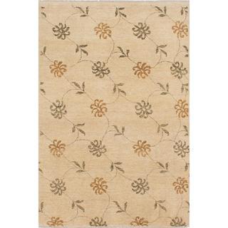 Ecarpetgallery Hand-knotted Peshawar Ziegler Beige Wool Rug (4' x 6')