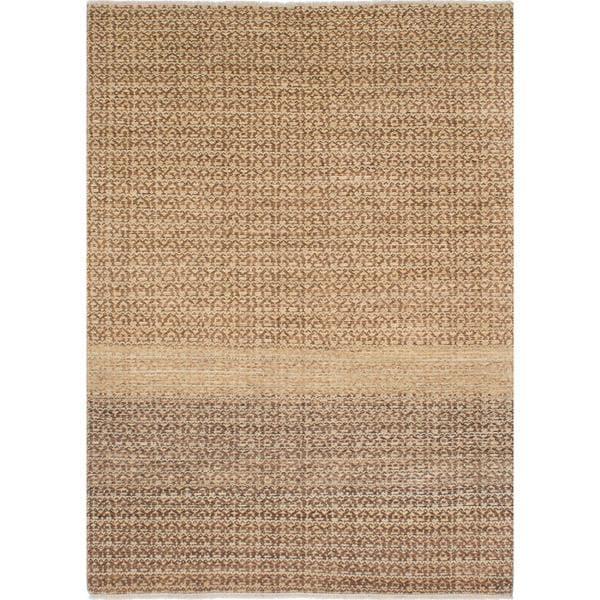 Ecarpetgallery Hand-knotted Peshawar Ziegler Brown and Yellow Wool Rug (5'5 x 7'6)