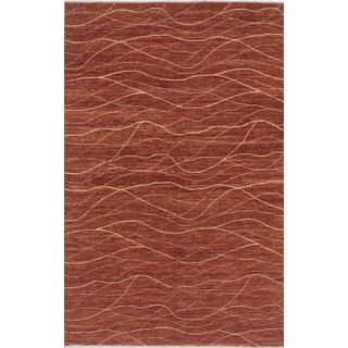 Ecarpetgallery Hand-knotted Peshawar Ziegler Orange Wool Rug (5'1 x 8')