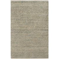 Ecarpetgallery Hand-knotted Eternity Gabbeh Blue and Yellow Wool Rug (4' x 6')