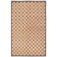Ecarpetgallery Hand-knotted Karma Beige Wool Rug (5' x 8')