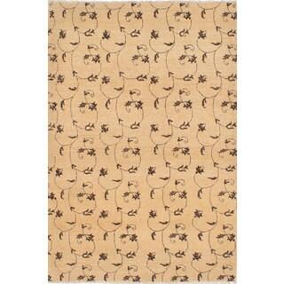 Ecarpetgallery Hand-knotted Peshawar Ziegler Beige Wool Rug (4'6 x 6'7)