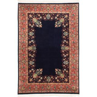 Ecarpetgallery Hand-knotted Sarough Blue Wool Rug (4' x 6'1)