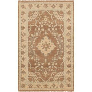 Ecarpetgallery Hand-knotted Ushak Brown Wool Rug (5' x 8')