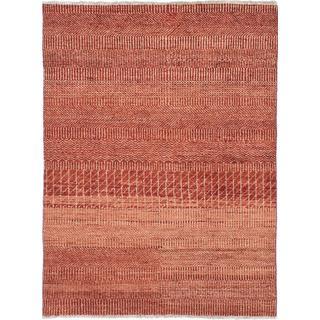 Ecarpetgallery Hand-knotted Peshawar Ziegler Brown Wool Rug (4'2 x 5'10)
