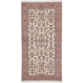 Ecarpetgallery Hand-knotted Sarough Beige Wool Rug (3'3 x 6'6)