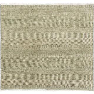 Ecarpetgallery Hand-knotted Peshawar Ziegler Green Wool Rug (3'11 x 3'8)