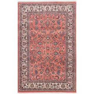 Ecarpetgallery Hand-knotted Sarough Brown Wool Rug (4'1 x 6'5)